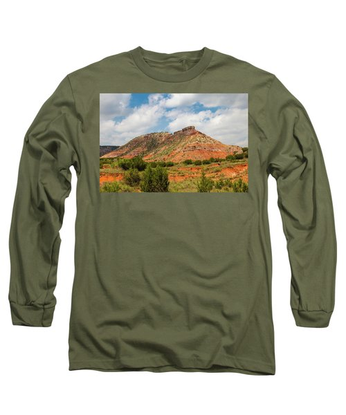 Mountain In Palo Duro Canyons Long Sleeve T-Shirt