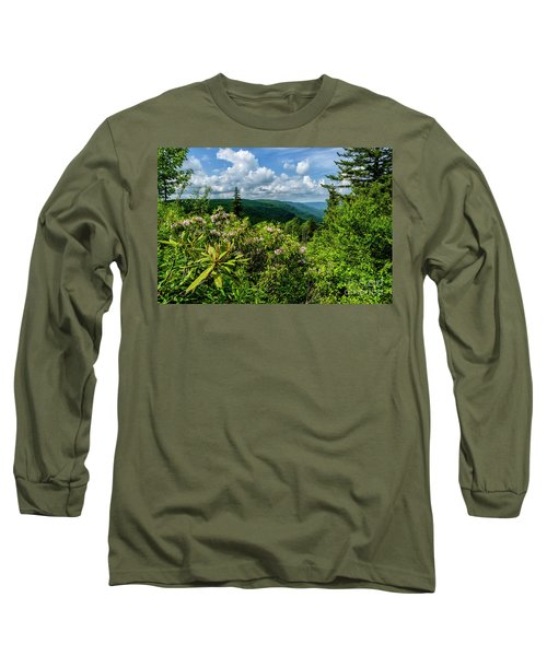 Long Sleeve T-Shirt featuring the photograph Mountain Laurel And Ridges by Thomas R Fletcher