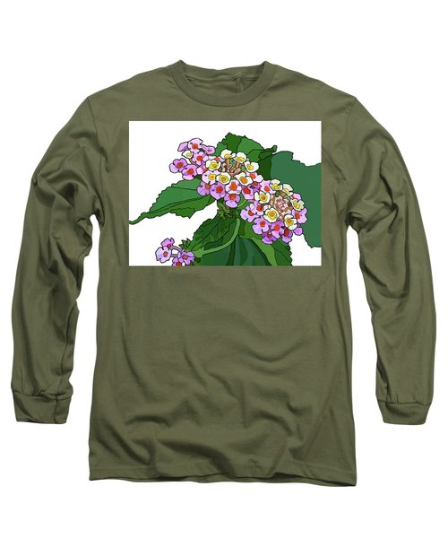 Mountain Laurel Long Sleeve T-Shirt by Jamie Downs