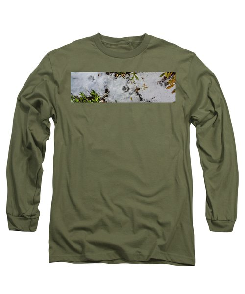 Mountain Lion Tracks In Snow Long Sleeve T-Shirt