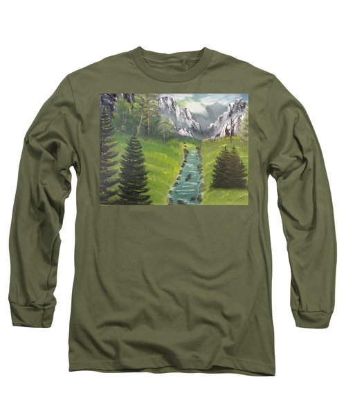 Mountain Meadow Long Sleeve T-Shirt by Thomas Janos