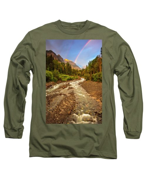 Mountain Rainbow Long Sleeve T-Shirt