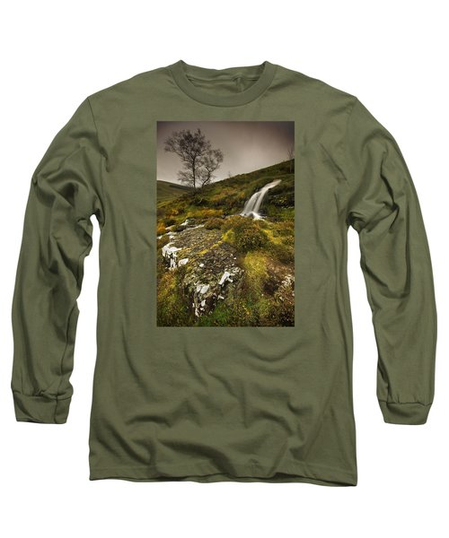 Mountain Tears Long Sleeve T-Shirt by John Chivers
