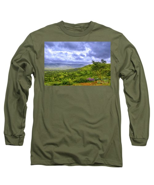 Long Sleeve T-Shirt featuring the photograph Mountain View by Charuhas Images