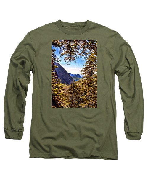 Mountain Views Long Sleeve T-Shirt by Anthony Baatz