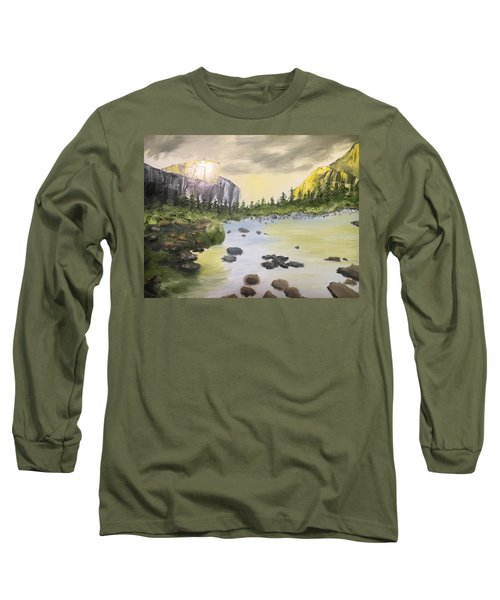 Mountains And Stream Long Sleeve T-Shirt