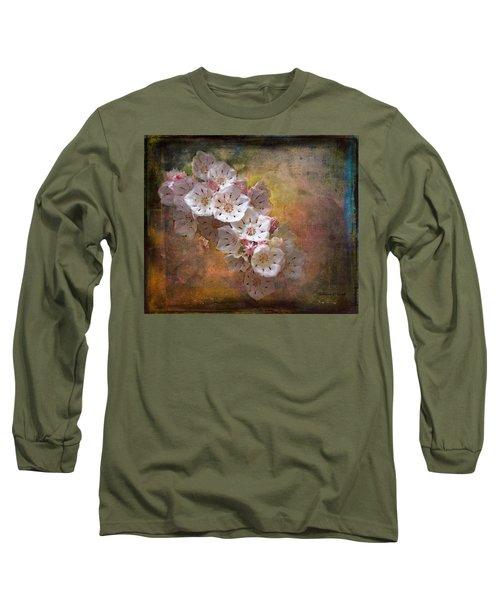 Mountain Laurel Long Sleeve T-Shirt by Bellesouth Studio