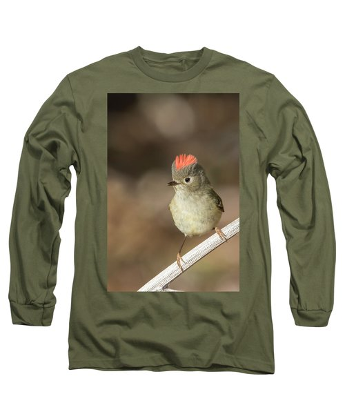 Long Sleeve T-Shirt featuring the photograph Mr Kinglet  by Mircea Costina Photography
