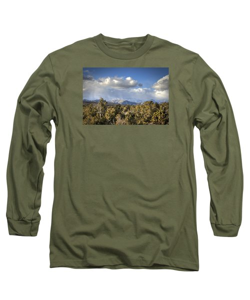 Mt Charleston Snow Storm Long Sleeve T-Shirt