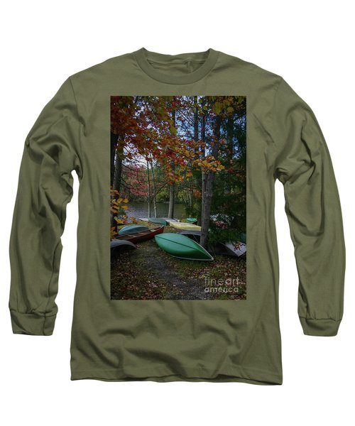 Mt. Gretna Canoes In Fall Long Sleeve T-Shirt