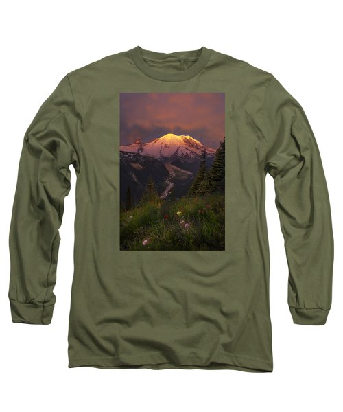 Mt. Rainier Sunrise Long Sleeve T-Shirt