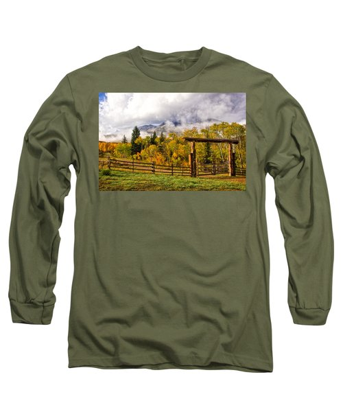 Mt Sopris Under The Clouds Long Sleeve T-Shirt by Ronda Kimbrow