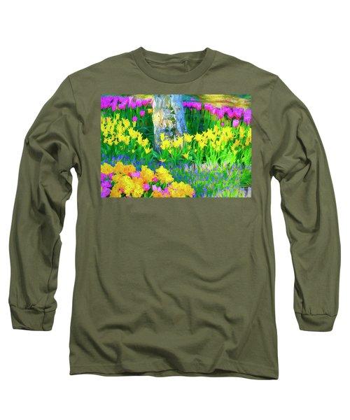 Mt Vernon Tulip Garden 1 Long Sleeve T-Shirt