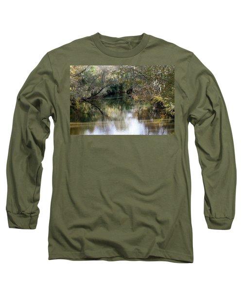 Long Sleeve T-Shirt featuring the photograph Muckalee Creek by Jerry Battle