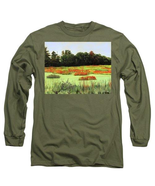 Mud Lake Marsh Long Sleeve T-Shirt by Lynne Reichhart