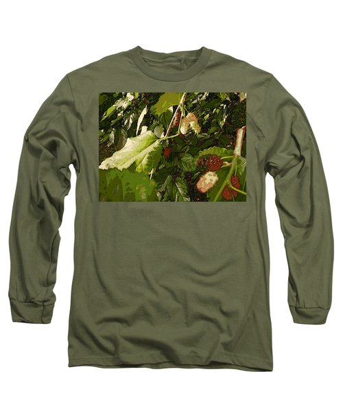 Long Sleeve T-Shirt featuring the digital art Mulberry Moment by Winsome Gunning