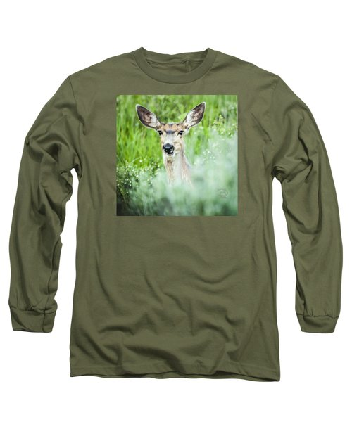 Long Sleeve T-Shirt featuring the photograph Muley Mule Deer by Daniel Hebard