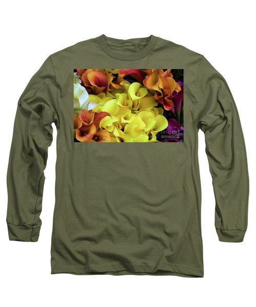 Multicolored Calla Lillies Long Sleeve T-Shirt