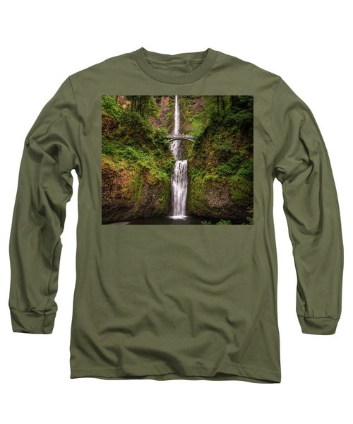 Multnomah Falls Long Sleeve T-Shirt by Martina Thompson