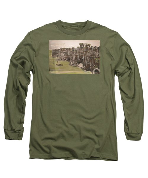 Long Sleeve T-Shirt featuring the painting Murud Janjira Fort by Vikram Singh