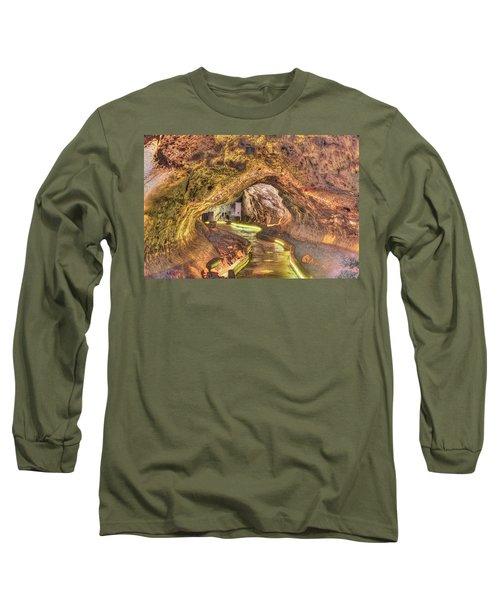 Mushpot Cave Long Sleeve T-Shirt by Richard J Cassato