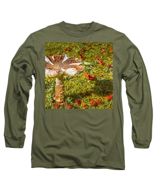 Mushroom Upclose Long Sleeve T-Shirt