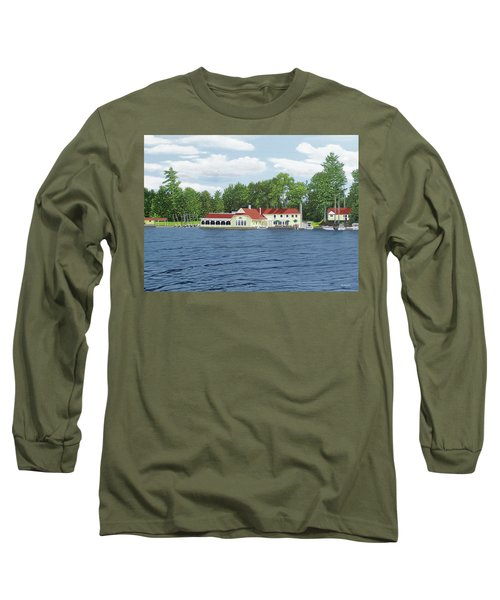 Long Sleeve T-Shirt featuring the painting Muskoka Lakes Golf And Country Club by Kenneth M Kirsch
