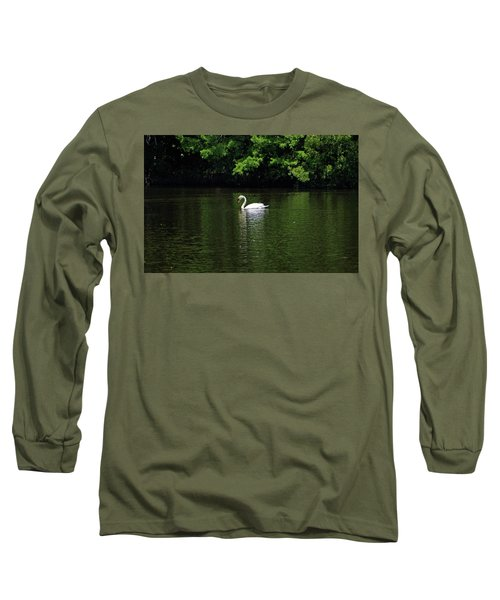Long Sleeve T-Shirt featuring the photograph Mute Swan by Sandy Keeton