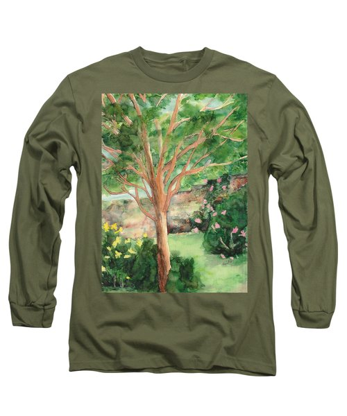 Long Sleeve T-Shirt featuring the painting My Backyard by Vicki  Housel