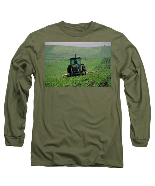 My Big Green Tractor Long Sleeve T-Shirt by Garry McMichael