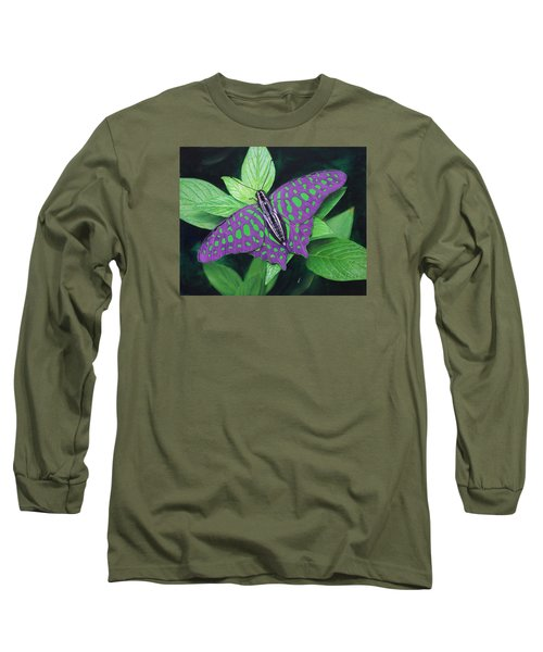 My Favorite Color Is Blue Long Sleeve T-Shirt by Richard Barone