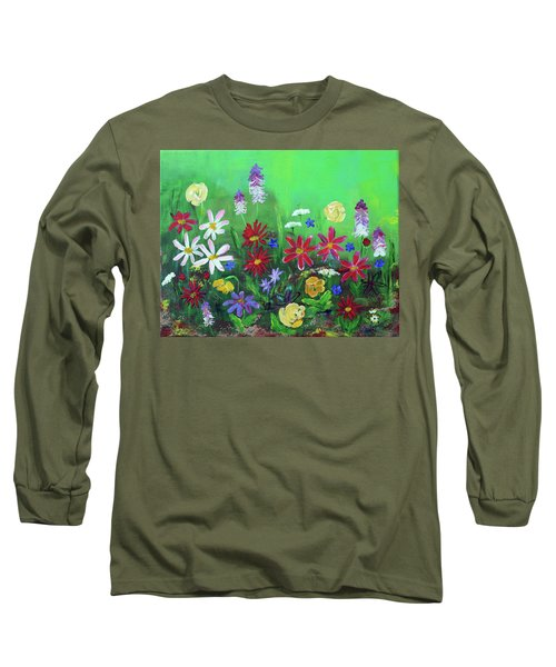 My Happy Garden 2 Long Sleeve T-Shirt by Haleh Mahbod