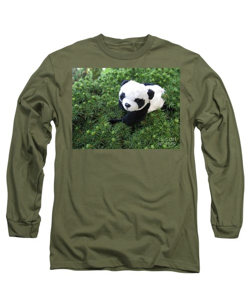 Long Sleeve T-Shirt featuring the photograph My Soft Green Bed by Ausra Huntington nee Paulauskaite