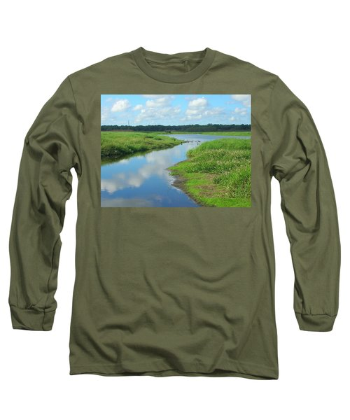 Long Sleeve T-Shirt featuring the photograph Myakka River Reflections by Emmy Marie Vickers