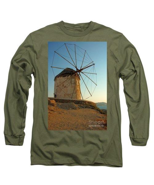 Mykonos Windmill  Long Sleeve T-Shirt