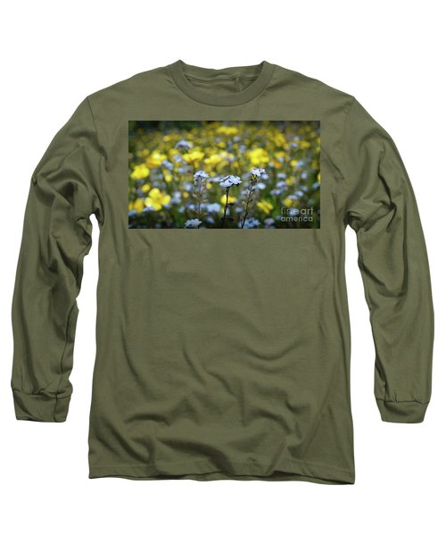 Myosotis With Yellow Flowers Long Sleeve T-Shirt