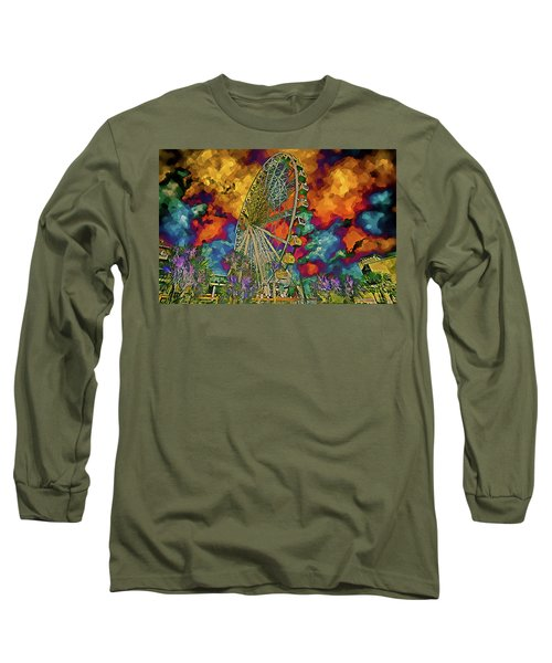Myrtle Beach Skywheel Abstract Long Sleeve T-Shirt by Bill Barber