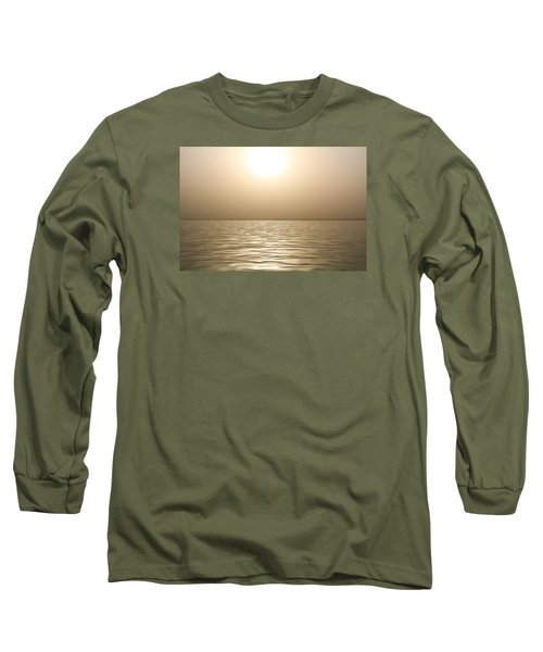Long Sleeve T-Shirt featuring the photograph Mystery Sandstorm Sunset- The Red Sea by Glenn Feron