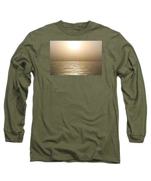 Mystery Sandstorm Sunset- The Red Sea Long Sleeve T-Shirt by Glenn Feron