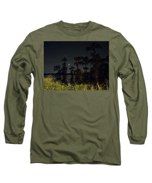 Mystique Of A Cajun Night Long Sleeve T-Shirt by Kimo Fernandez