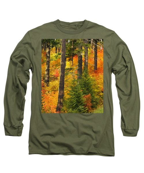 N W Autumn Long Sleeve T-Shirt by Wes and Dotty Weber