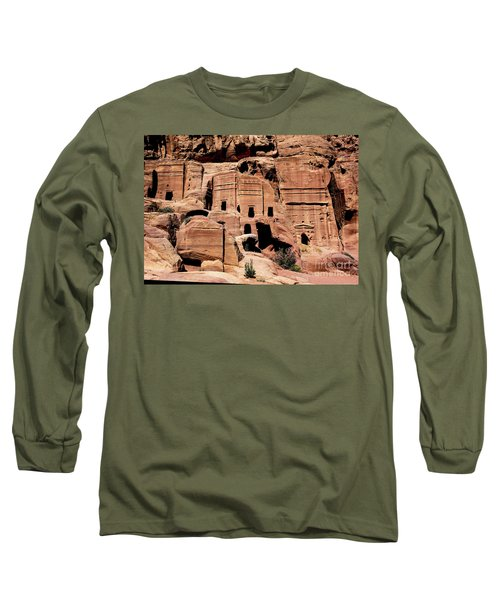 Long Sleeve T-Shirt featuring the photograph Nabataeans' City by Mae Wertz