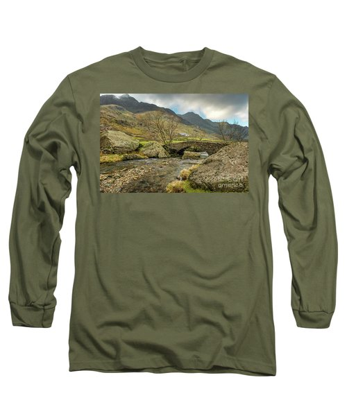 Long Sleeve T-Shirt featuring the photograph Nant Peris Bridge by Adrian Evans