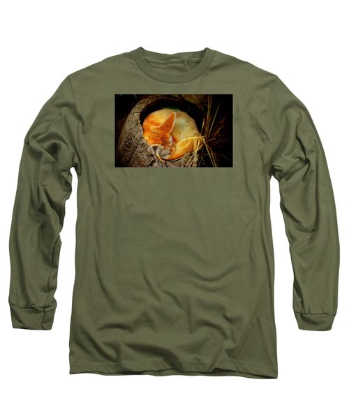Napping Fennec Fox Long Sleeve T-Shirt