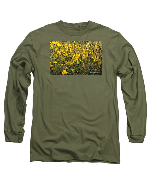 Long Sleeve T-Shirt featuring the photograph Narcissus And Grasses by Tanya Searcy