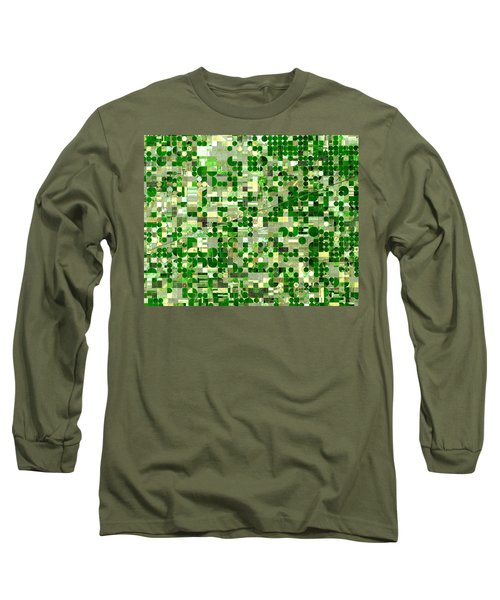 Nasa Image-finney County, Kansas-2 Long Sleeve T-Shirt