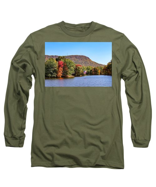 Nashawannuck Pond Fall Colors Long Sleeve T-Shirt