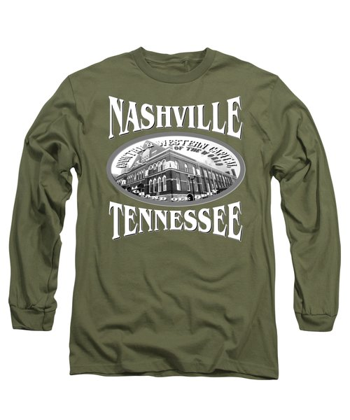 Nashville Tennessee Design Long Sleeve T-Shirt
