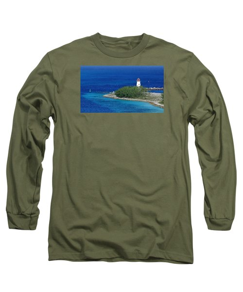 Long Sleeve T-Shirt featuring the photograph Nassau Lighthouse 1 by Coby Cooper