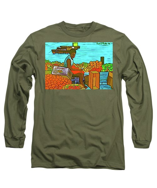 Nassau Fruit Seller At Waterside Long Sleeve T-Shirt
